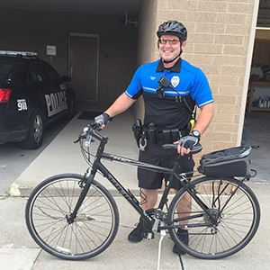 Cop with Bike