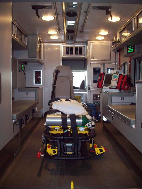 Interior of Ambulance 869
