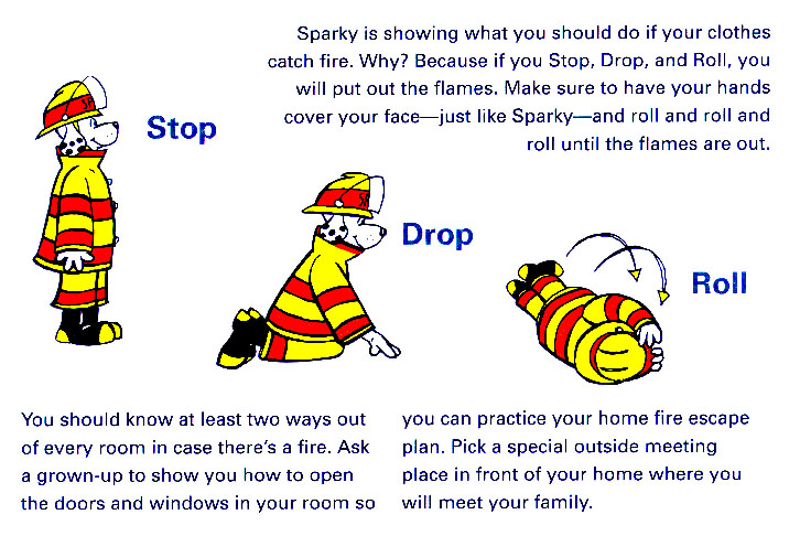 Sparky Stop Drop and Roll poster