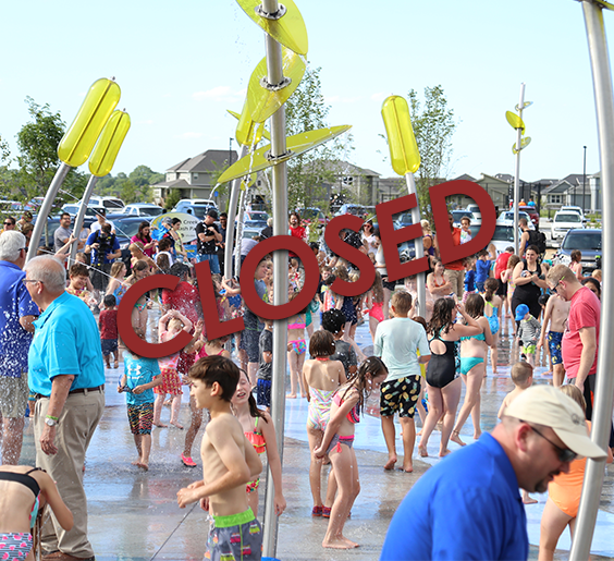Splash pad closed