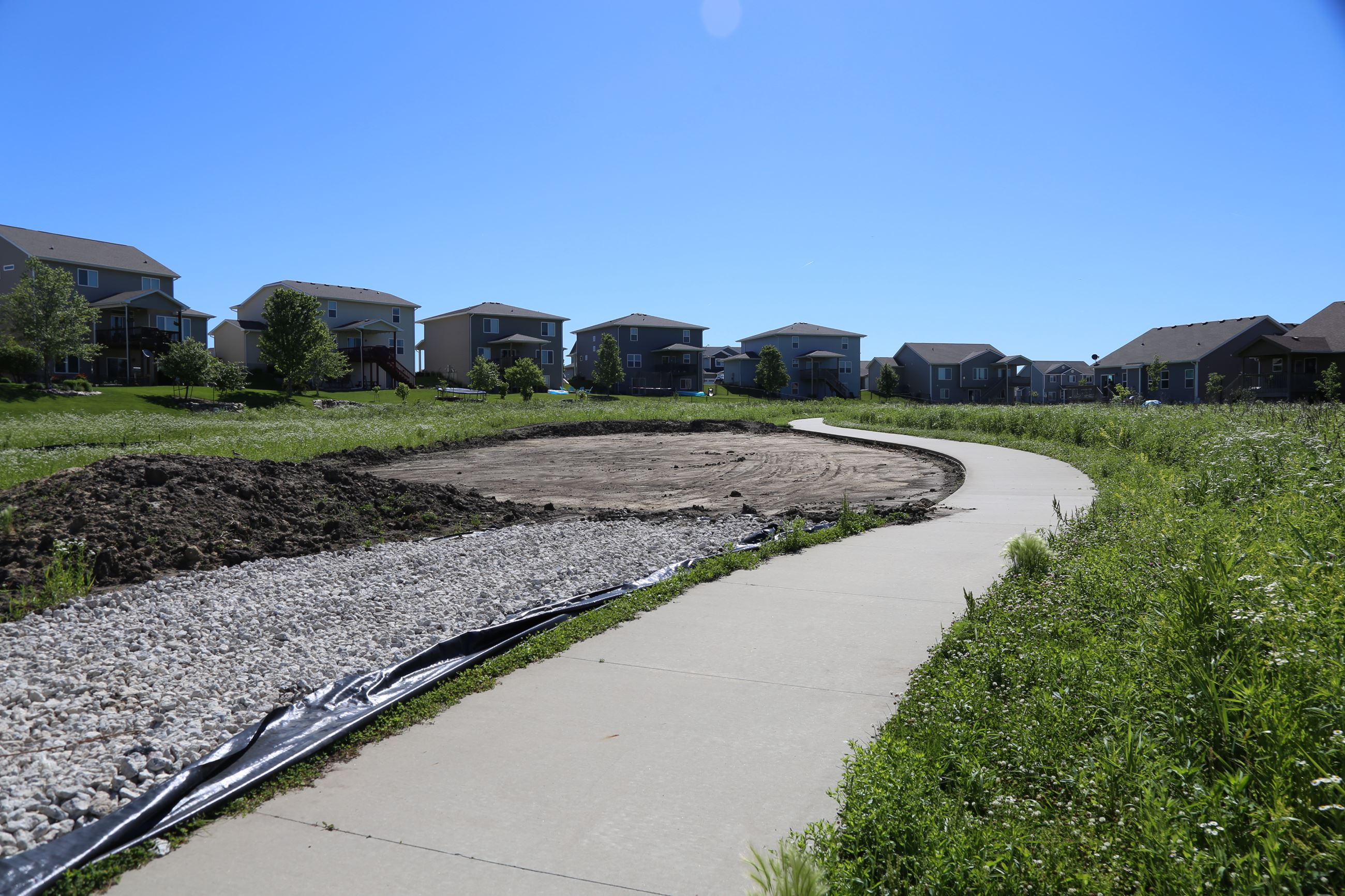 Glynn Village Trailside Amenity construction site situated just off of the bike trail